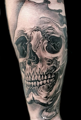 tattoo new traditional skull.png